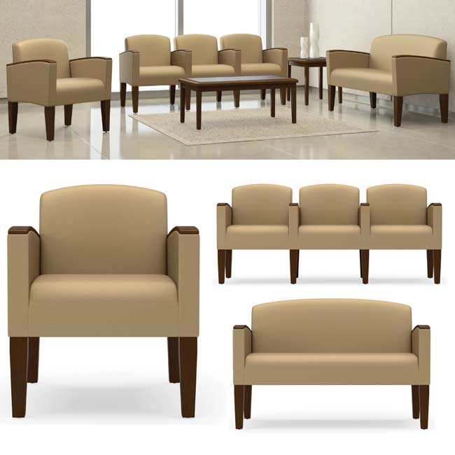All Belmont Series Reception Seating By Lesro Options Chairs Worthington Direct