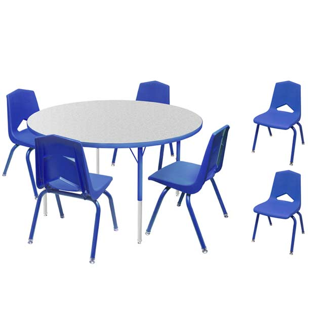 All Youth Round Activity Table Amp 6 Chair Package Set By