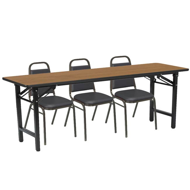 Kfi Seating Folding Training Table With Three Im810 Padded