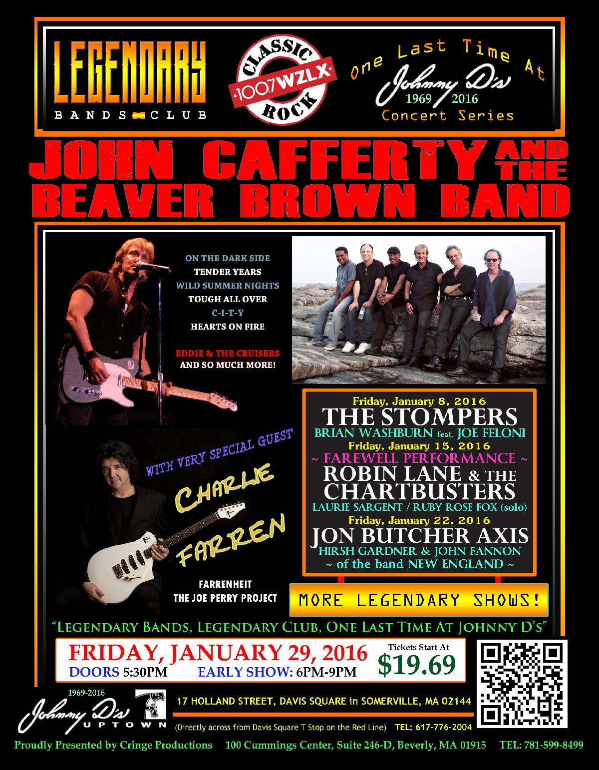 Johnny D S John Cafferty Amp The Beaver Brown Band With Charlie Farren Of The Joe Perry