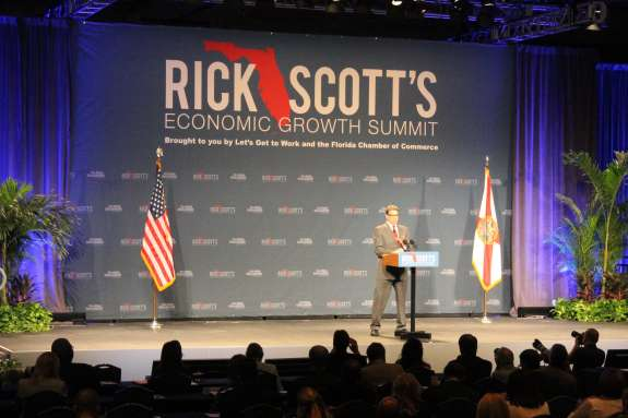 Former Texas Governor Rick Perry was one of the speakers at Governor Rick Scott's Economic Growth Summit. Photo: Matthew Peddie, WMFE