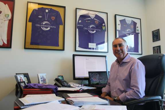 """We want to be the very best neighbor to Parramore we can be,"" says Orlando City Soccer Club president Phil Rawlins. Photo: Matthew Peddie, WMFE"
