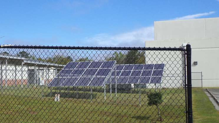 Solar panels at Jefferson County Middle High School in north Florida