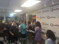 A press conference at The Center, a LGBTQ center serving as a hub with grief counselors in Orlando.