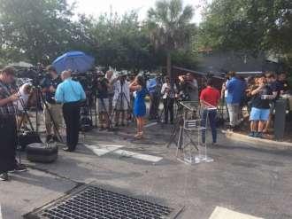 Media waiting for updates on Sunday.