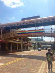 Church Street Station's breezeway and Cheyanne Saloon were draped in rainbow banners on Monday, June 13, in response to the Pulse gay nightclub shooting.