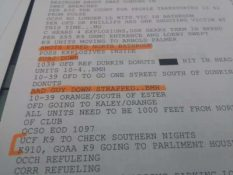 "Dispatch report reads ""Bad guy down."""