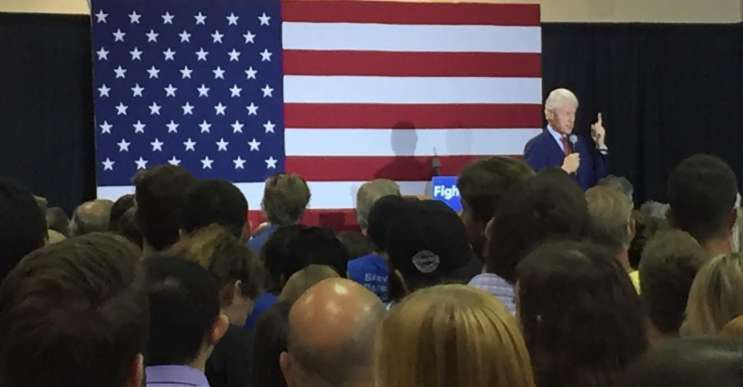 Former president Bill Clinton during a visit to Rollins College ahead of the March 15th primary. Photo: Renata Sago.