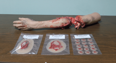 Some of the anatomical simulations produced by Angela Alban's company. Photo: Brendan Byrne, WMFE