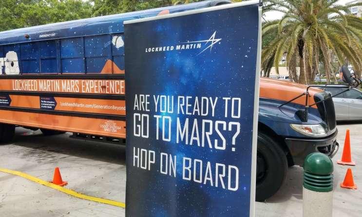 Mars-Bound Bus Parks At Orlando Eye   90 7 WMFE