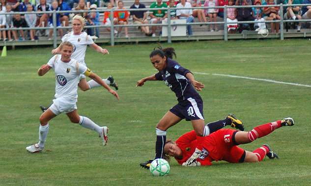 Marta is widely regarded as the greatest women's soccer player of all time. Photo: Wikimedia Commons.