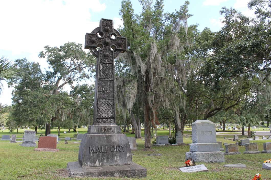 The Mallory cross, Greenwood Cemetery. Photo: Matthew Peddie, WMFE