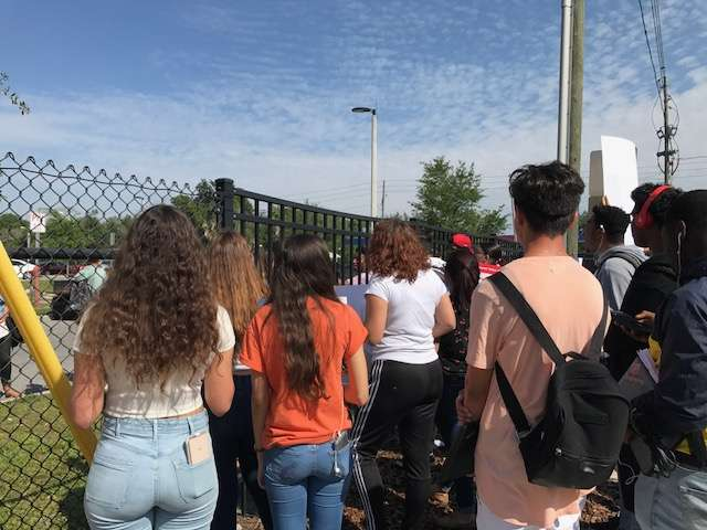 The second National School Walkout took place today. Photo: Danielle Prieur