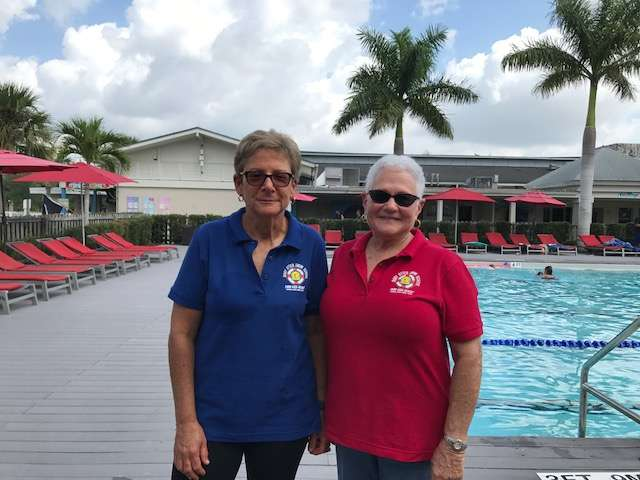 Mindy York (l) and Marlene Bloom (r) are co-owners of Baby Otter Swim School. Photo: Danielle Prieur