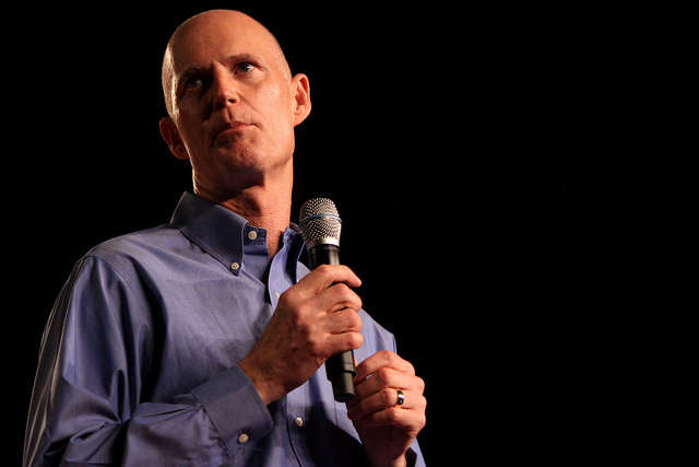 Governor Rick Scott and President Donald Trump attended an event at the Orange County Convention Center today. Photo: Flickr Creative Commons