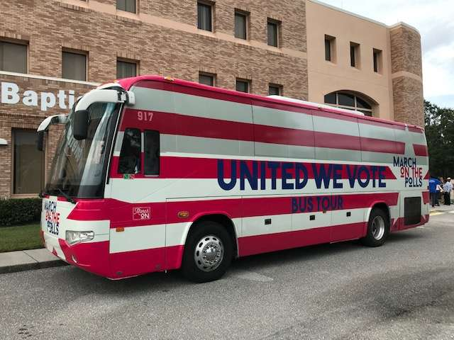 March on the Polls provided transportation to early voting sites like the Orange County Supervisor of Elections. Photo: Danielle Prieur