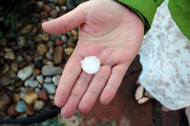 Itstarted at the Brevard-Orange County line near Christmas and traveled South, bringing with it golf-ball sized hail. Photo: Flickr Creative Commons