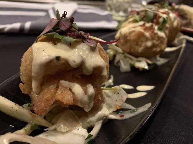 Photo of blue crab beignets courtesy of Scott Joseph's Orlando Restaurant Guide