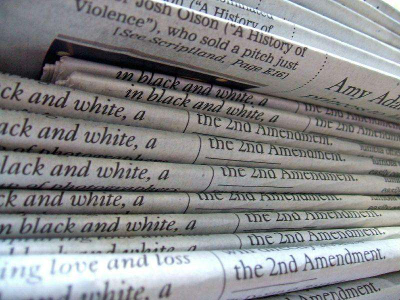 Stacked Newspapers
