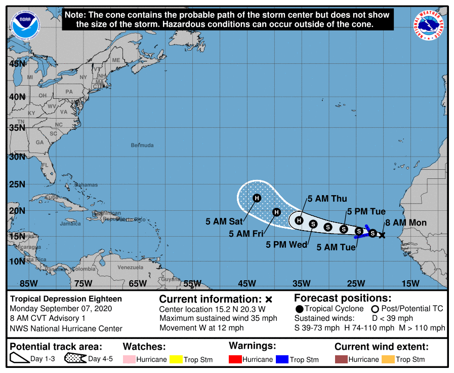 National Hurricane Center monitoring Tropical Storms Paulette and Rene in Atlantic