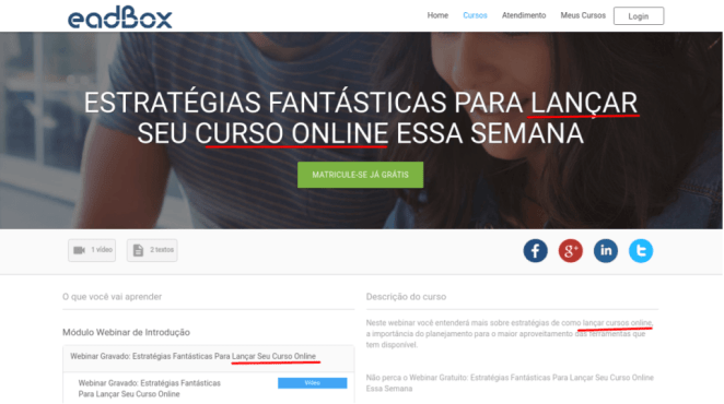 exemplo SEO para cursos online