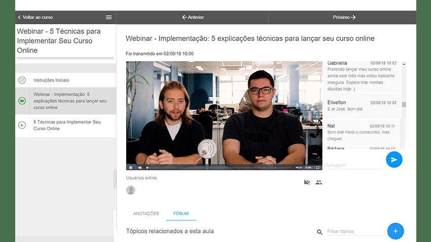 nossa solução de transmissão de webinar ao vivo