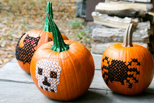 Pumpkin Embroidered
