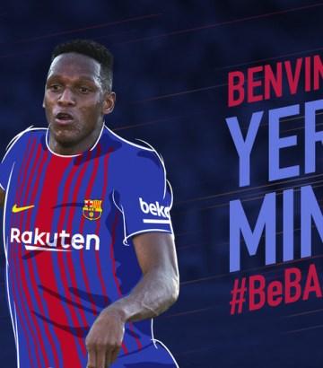 Yerry Mina llega al FC Barcelona en búsqueda de un lugar en Rusia2018