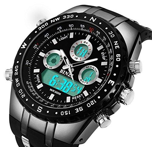 New Military Watch Under $25 – Extraordinary Men's Analog/Digital Wristwatch