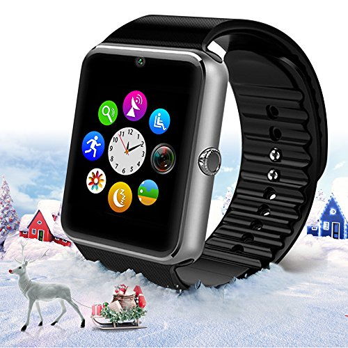 StarryBay Black Bluetooth Wrist Smart Watch with Touch Screen /