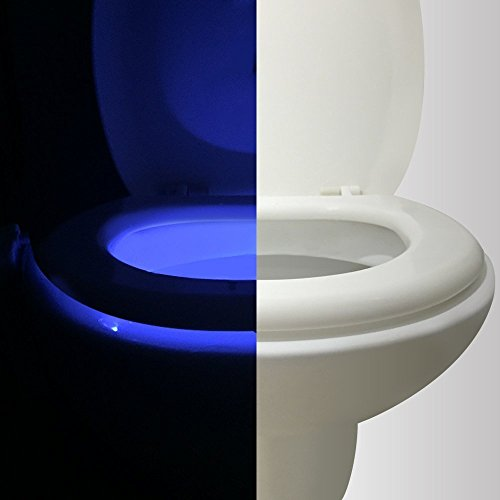 Motion Activated Toilet Night light  Vintar Body Auto Motion Activated Sensor Colorful Nightlight 16-Color Changes Only Activates in
