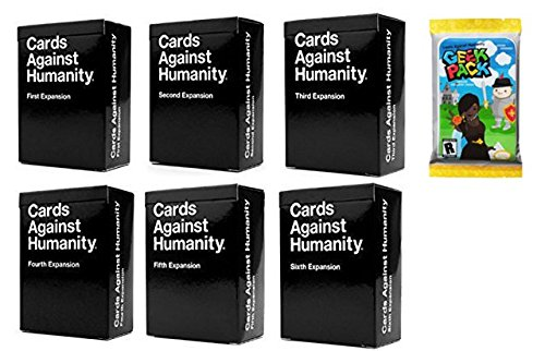 Cards Game Against Humanity: 1st 2nd 3rd 4th 5th 6th Expansions + Geek Expansion Pack!!!!
