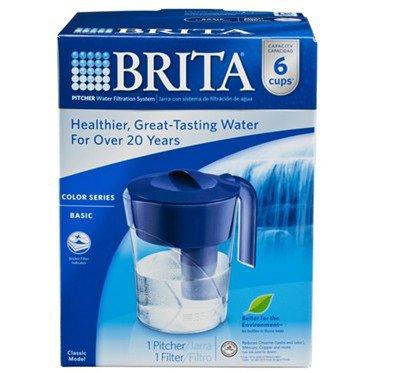 Brita Classic Pitcher 6 Cup Navy Blue
