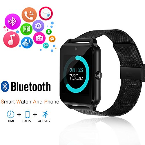 Smart Watch GEEKERA Bluetooth Watch Wristwatch Phone with SIM Card Slot / Touch Screen / Camera for iPhone 6s/6 Plus/5s/5c/4 and Android