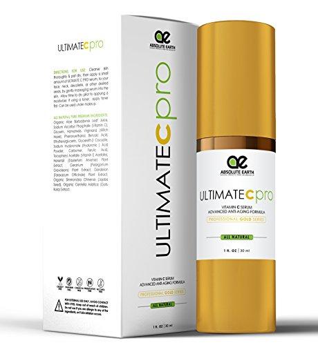 Vitiman C Serum – PROFESSIONAL GRADE – Advanced Skincare Formula – Ferulic Acid Anti-Wrinkle Anti-Aging Vitamin C Serum with Hyaluronic Acid + Vitamin E by Absolute Earth, 1 fl. oz
