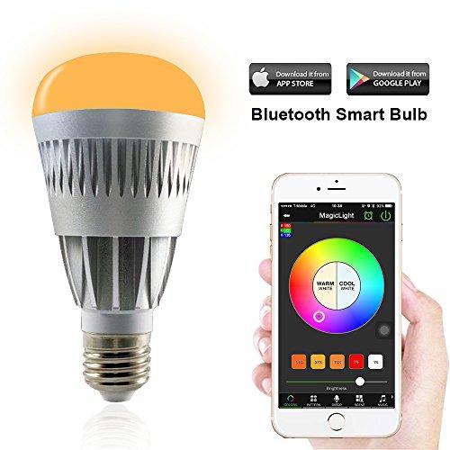 smart led light bulb smartphone controlled sunrise wake up led lights. Black Bedroom Furniture Sets. Home Design Ideas