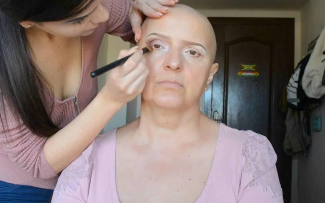 Chemo patient makeup transformation