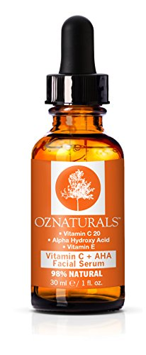 OZ Naturals Vitamin C Serum + AHA For Skin – Anti Aging Anti Wrinkle Serum Combines Potent Vitamin C with Natural Alpha Hydroxy Acids Which Deliver The Youthful Glow You've Been Looking For!