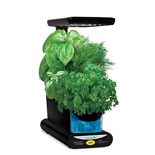 AeroGarden Sprout LED with Gourmet Herb Seed Pod Kit Black