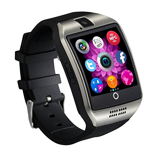 Qiufeng Q18 Smart Watch Smartwatch Bluetooth Sweatproof Phone with Camera TF/SIM Card Slot for Android and IPhone Smartphones for Kids