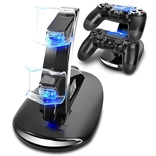 Playstation 4 Charger CBSKY® Dual USB Charging Charger Docking Station Stand for Playstation 4 PS4 Controller