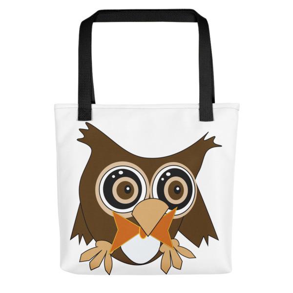 Cute Owl Tote Bag | Cartoon Owl Bag | Unique Owl Tote | Cute Cartoon Owl