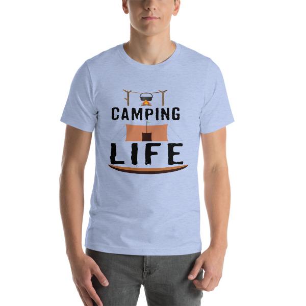 mockup 2bbe3ff8 - Camping T-Shirts - Camping Life Short-Sleeve Unisex T-Shirt