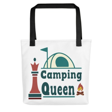 mockup 8851e705 - Show The World You're The Camping Queen With This Women's Tote Bag