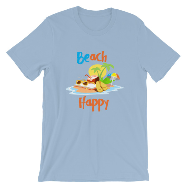 mockup 7fe0a7d7 - Beach Happy T-Shirt - Beach Short-Sleeve Unisex Tee