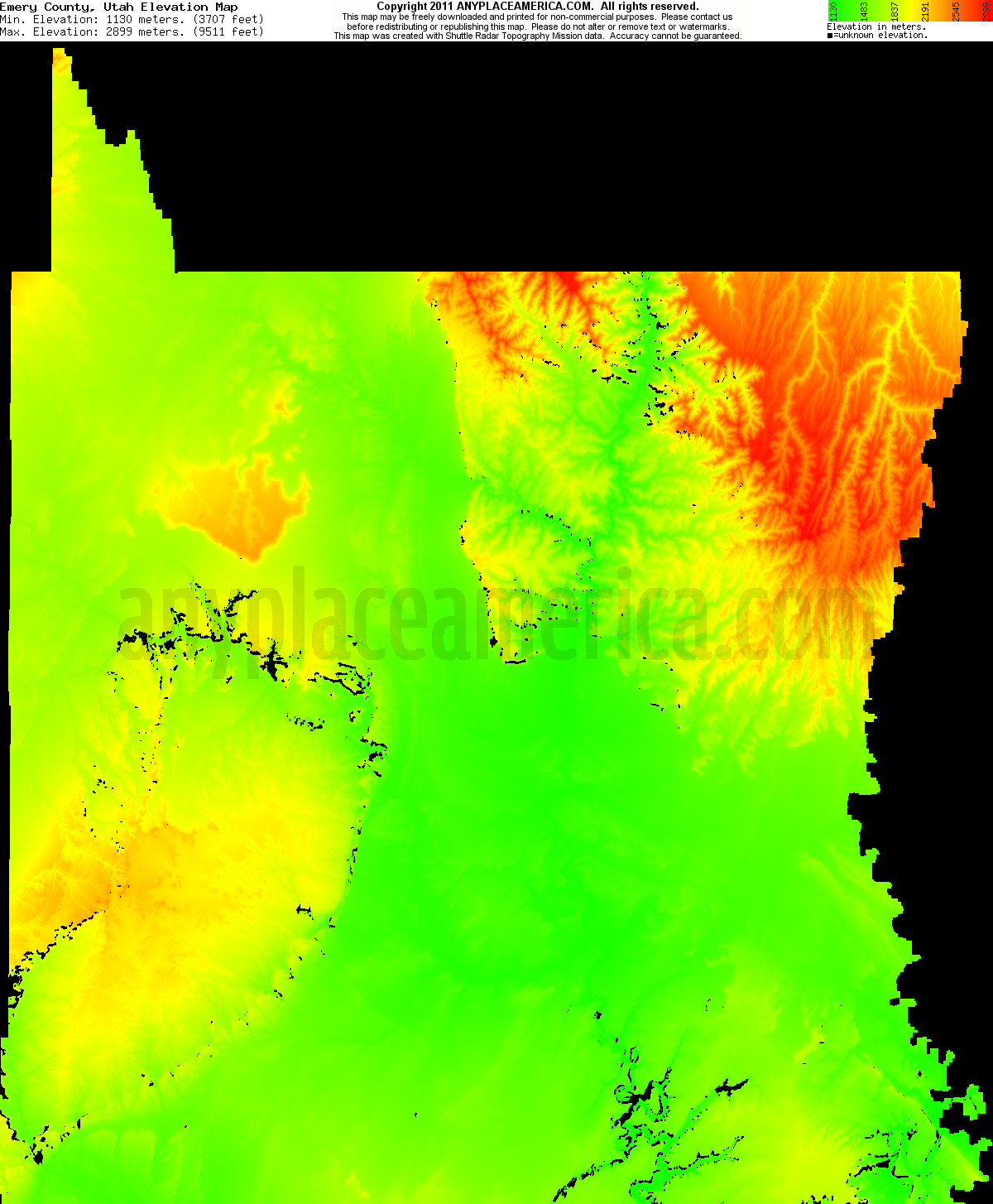 Free Emery County Utah Topo Maps Amp Elevations