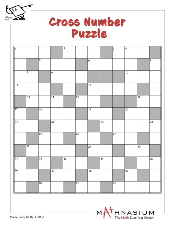 Math Crossword Puzzle From Milpitas Mathnasium
