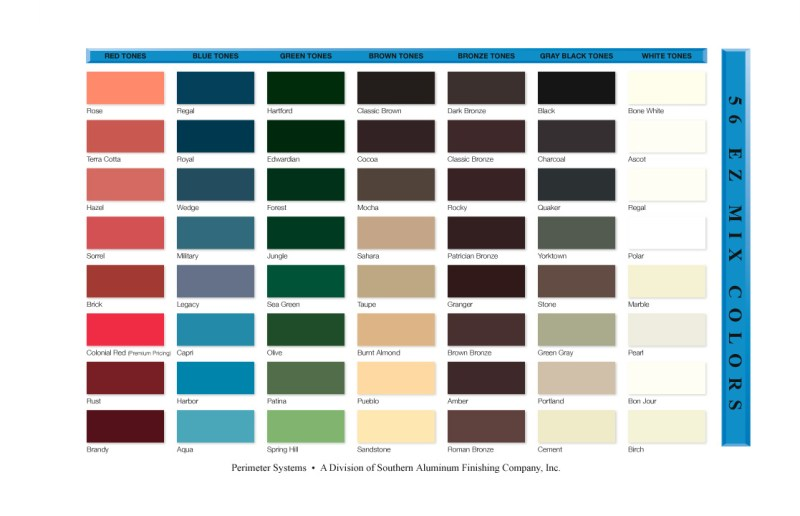 Kynar Color Chart Coloringsite