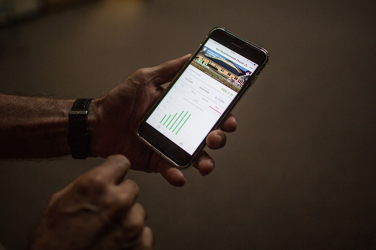 solar panels church Indiana iphone app