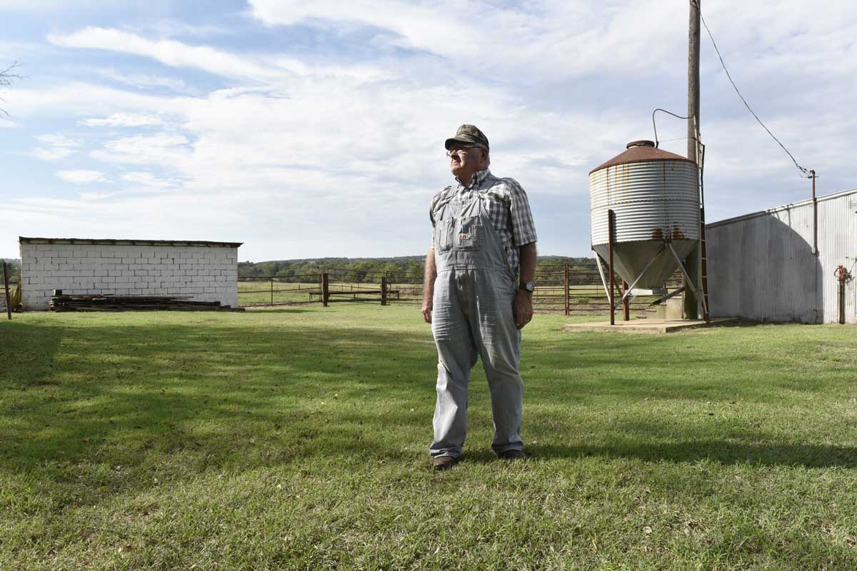 Darrell Stiles, on his ranch in Cushing, is in that camp of ranchers who believe debates over climate change are academic, and don't have much bearing on business.